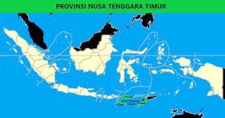 Peta Provinsi Nusa Tenggara Timur (NTT)