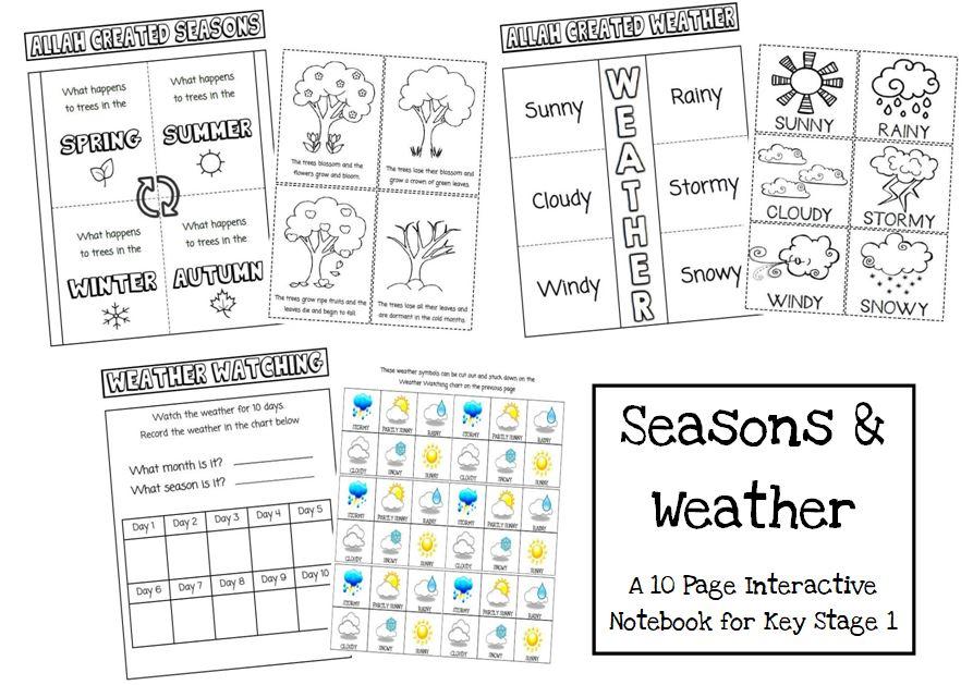 Iman's Homeschool ~ The Curriculum: Seasons & Weather