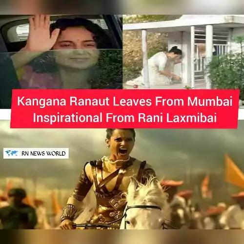 Kangana-Ranaut-leaves-for-Mumbai-Take-inspiration-from-Rani-Laxmibai