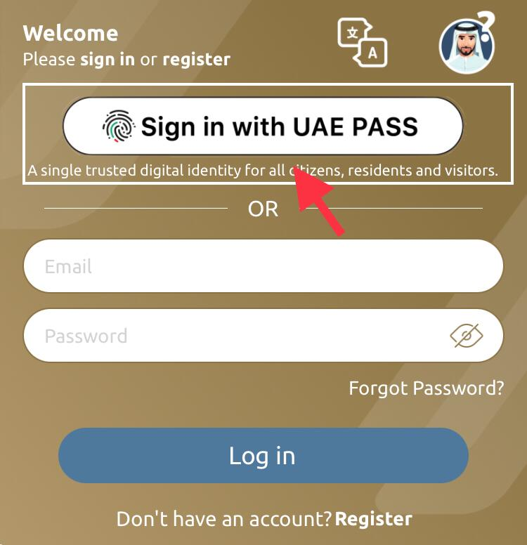 Sign in with uae pass
