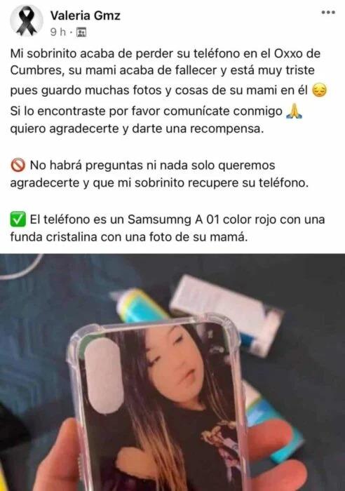 Niño perdió su celular y ahí tenía todas las fotos de su mamá que recién murió; internet sale al rescate