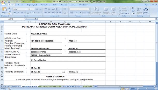 Aplikasi Sederhana Instrumen PKG untuk Berkas DUPAK dan Input Dapodik