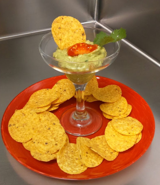 guacamole alocados en la cocina