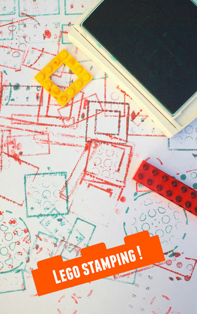 Lego Stamping with Kids- Easy and Fun Art