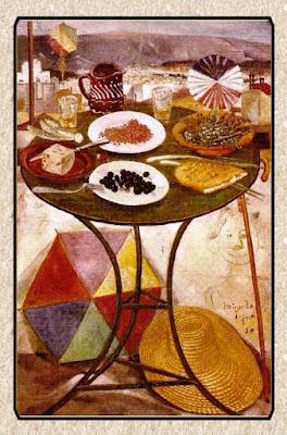 Πίνακας ζωγραφικής Σπύρος Βασιλείου  «Το Τραπέζι της Καθαρής Δευτέρας», 1950