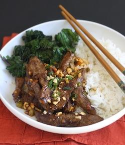 szechuan beef stir fry with chili bean sauce