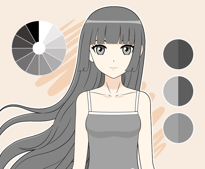 Gambar warna Achromatic