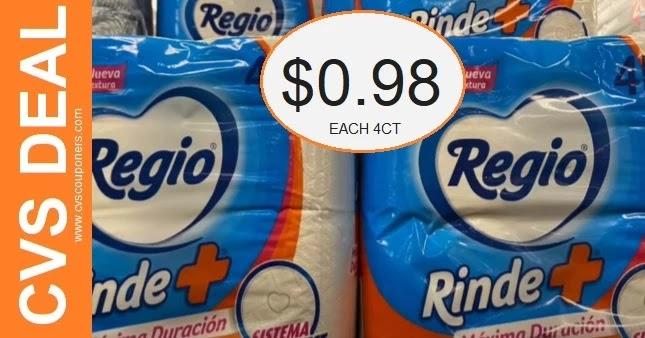 Cheap Regio Toilet Paper CVS Deals