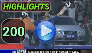 Sachin Tendulkar 200* - India vs South Africa 2nd ODI 2010 Highlights