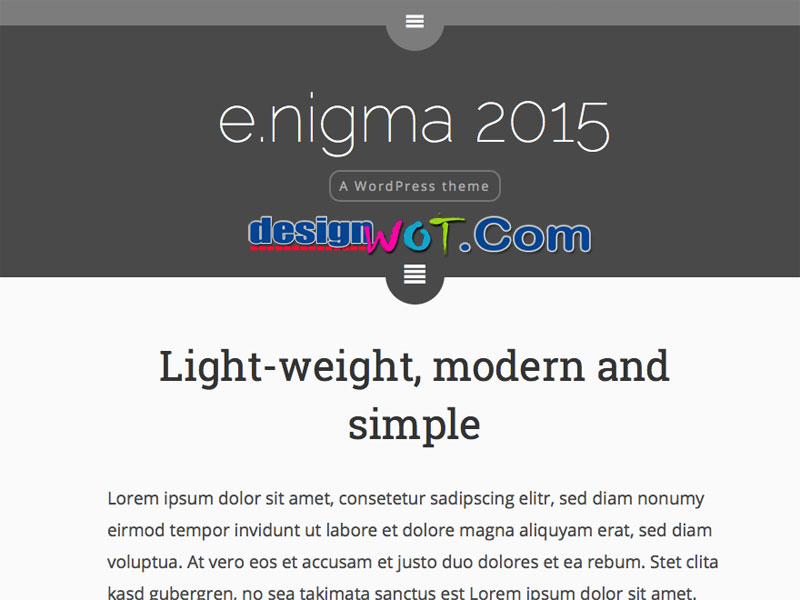 enigma Modern Simple WordPress Theme