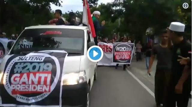 Keren! Tak Ketinggalan, Sulawesi Tengah Pun Gelar Deklarasi #2019GantiPresiden