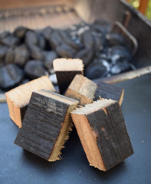We used smoke wood made from Jack Daniel's oak barrels.