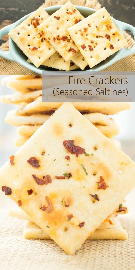 FIRE CRACKERS (SEASONED SALTINES) #Ranch #Garlic #Saltine #crackers #Snack