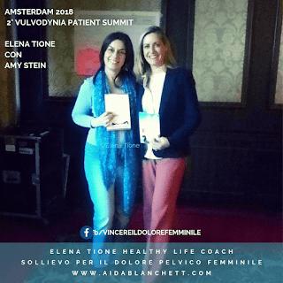 Elena Tione con la fisioterapista esperta di dolore pelvico Amy Stein, ad Amsterdam, nel 2018