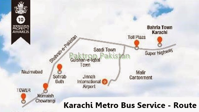 Route map Karachi Metro bus