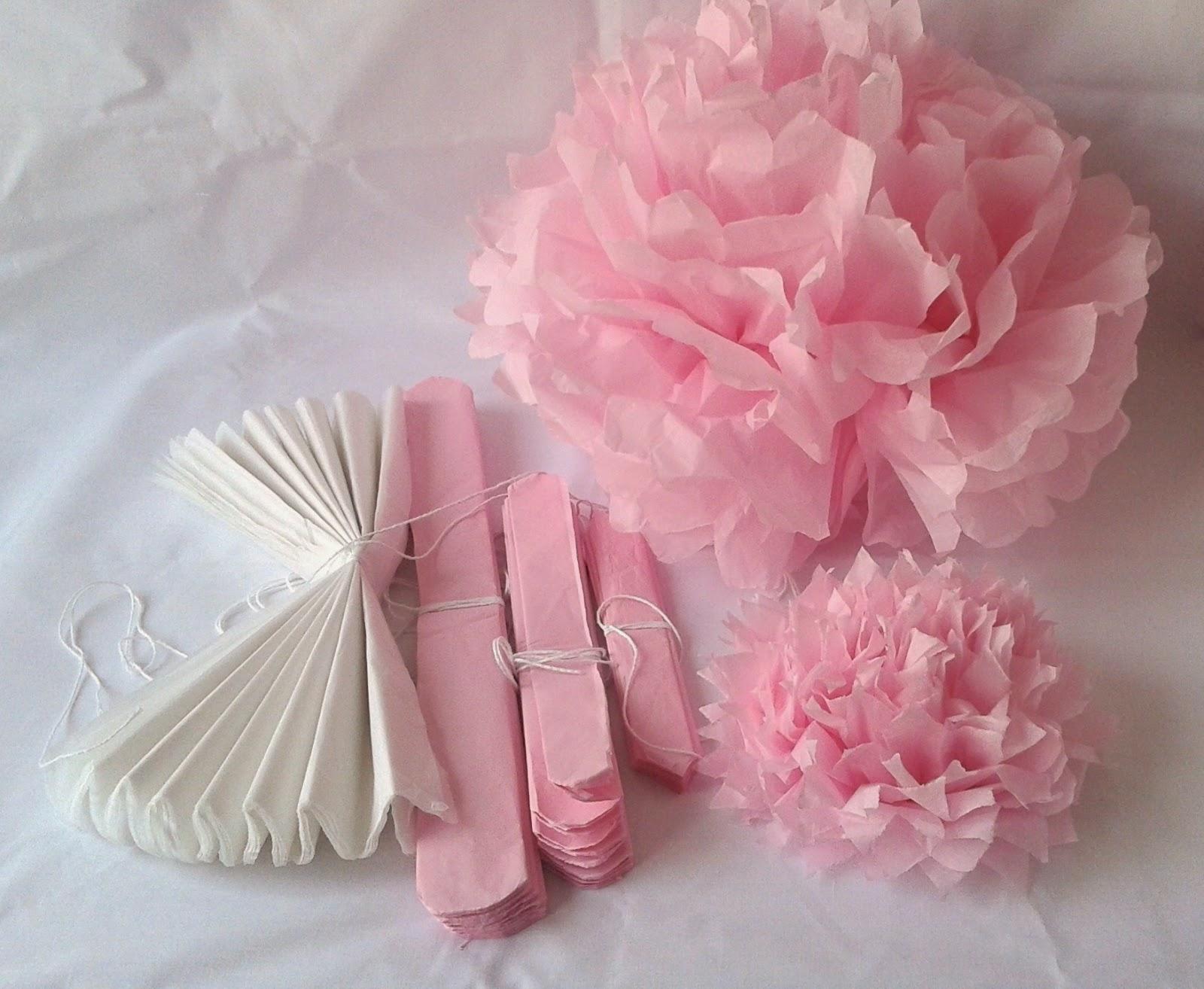Aurea s kitchen craft pompones y flores de papel - Pompones con papel de seda ...