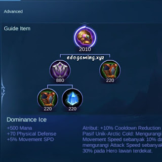penjelasan lengkap item mobile legends item dominance ice