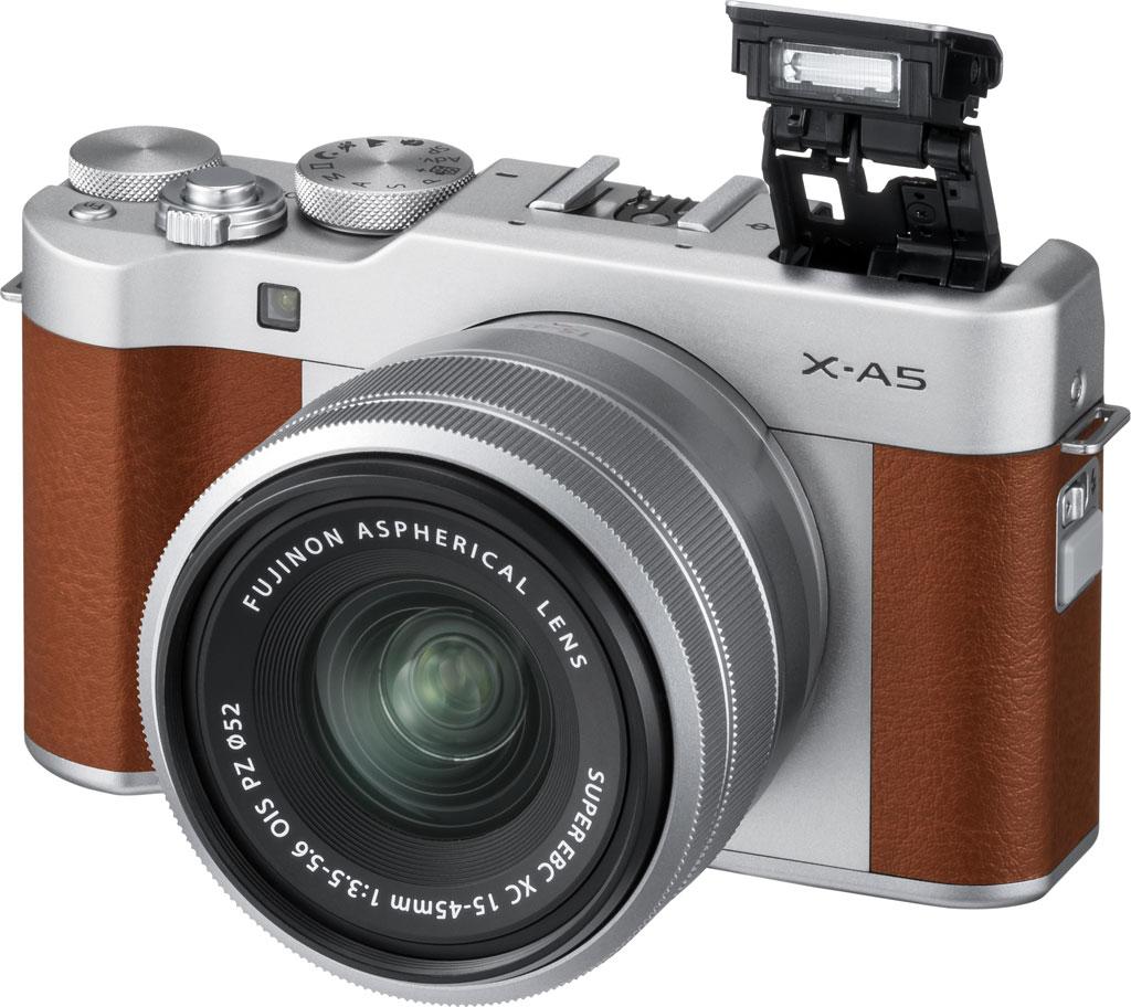 Fujifilm X-A5, горячий башмак и встроенная вспышка