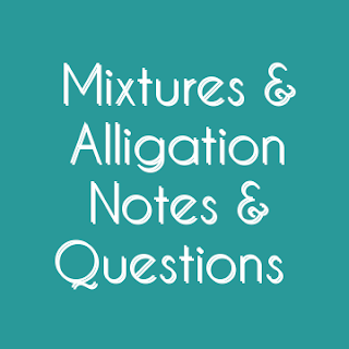 ALLEGATION OR MIXTURE AND AGE RELATED HAND WRITTEN NOTE WITH SOLVED EXAMPLE BY HEERALAL