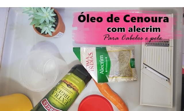 ingredientes para óleo de cenoura