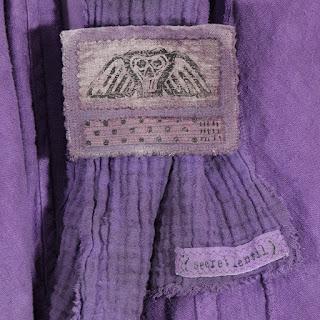 winged skull hand dyed linen brooch from secret lentil