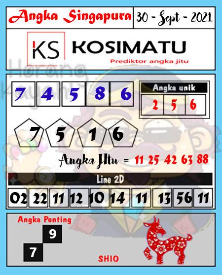 Kosimatu Sgp Kamis 30 September 2021