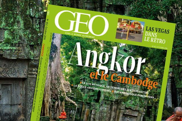 Angkor et le Cambodge dans le nouveau magazine GEO