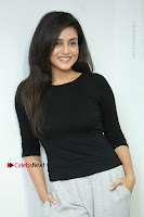 Telugu Actress Mishti Chakraborty Latest Pos in Black Top at Smile Pictures Production No 1 Movie Opening  0241.JPG