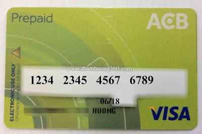 Thẻ Visa Prepaid ACB Bank