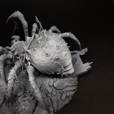necromunda giant spider conversion inq28 blanchitsu 40k