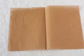 Priprema papira za oblaganje tepsije