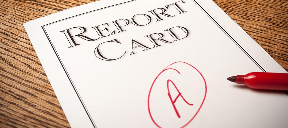 grades, class card, grade A