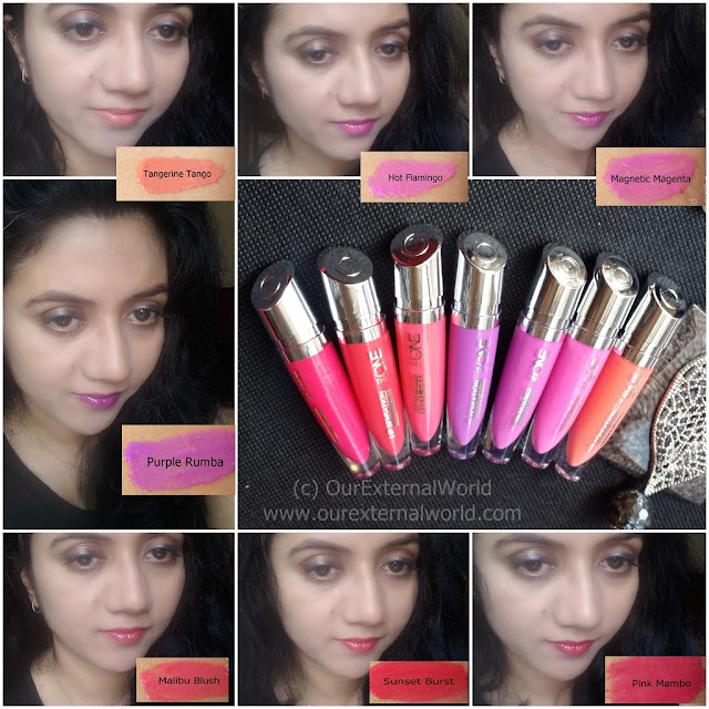 Oriflame The ONE Lip Sensation Vinyl Gel Lipsticks - Review, Swatches, Price