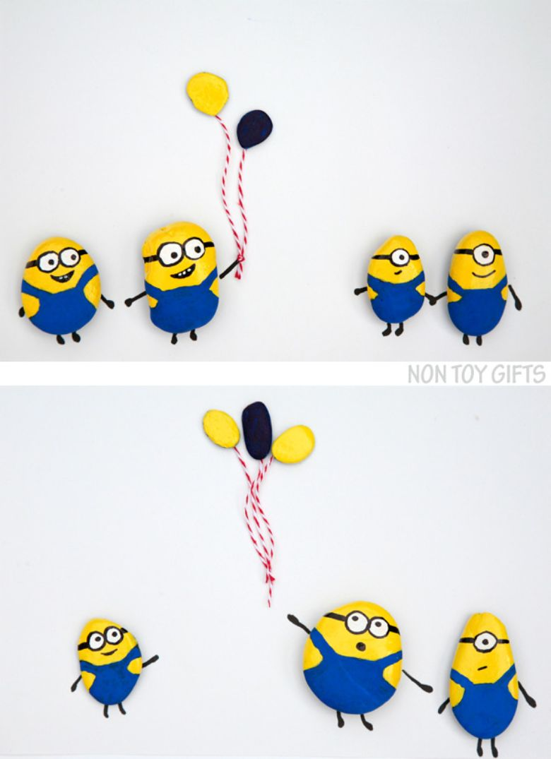 minion rock painting ideas