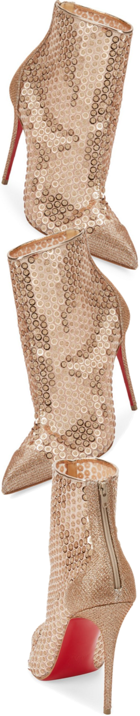 Christian Louboutin Gipsy Point Toe Booties in Nude