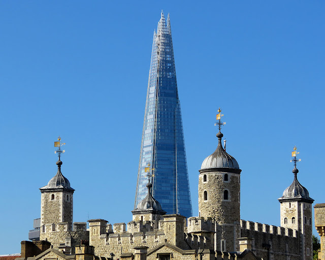 The Shard by Renzo Piano seen beyond the White Tower, London