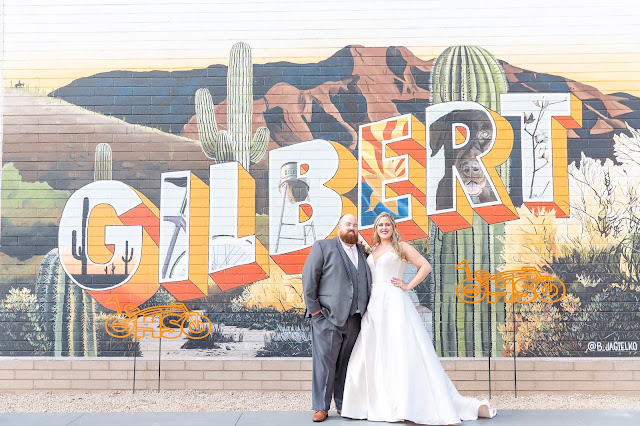 Downtown Gilbert AZ Bride and Groom
