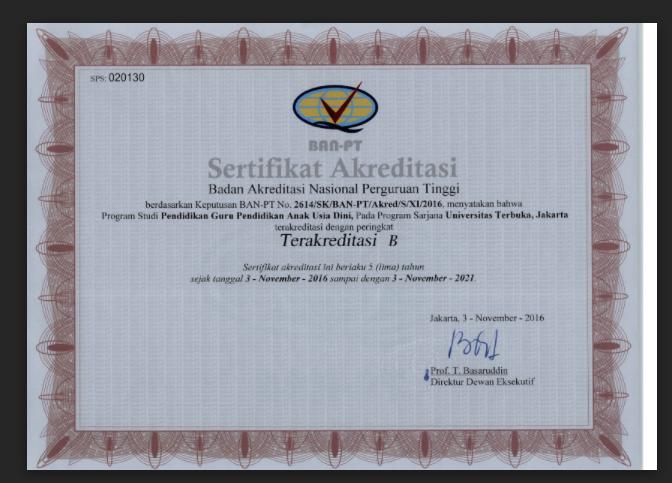 gambar download sertifikat akreditasi UT