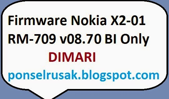 Please take the Nokia Firmware X 2-01BI Only on this page.