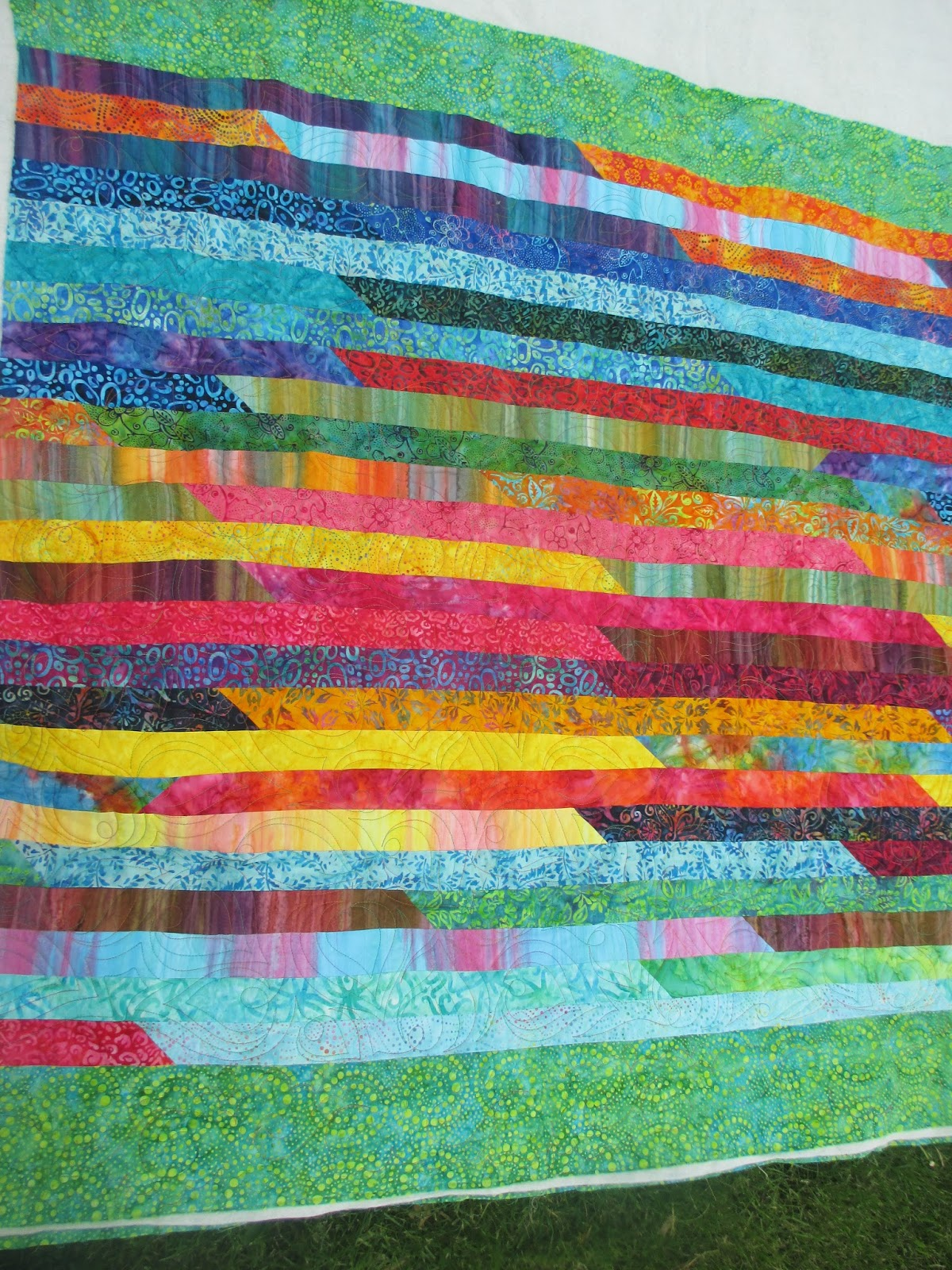 Down To Sew Batik Jelly Roll Quilt