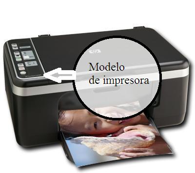 Lugar donde está el modelo de la impresora
