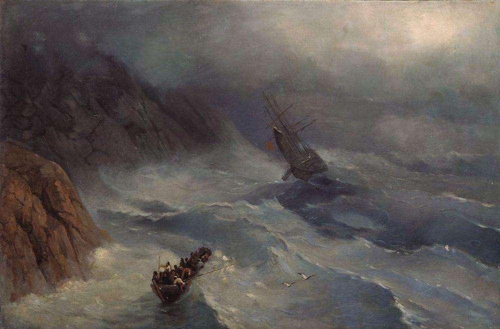 03-Raging-Sea-Ivan-K-Aivazovsky-Иван-К-Айвазовский-Paintings-of-the-Sea-from-1840-to-1900-www-designstack-co