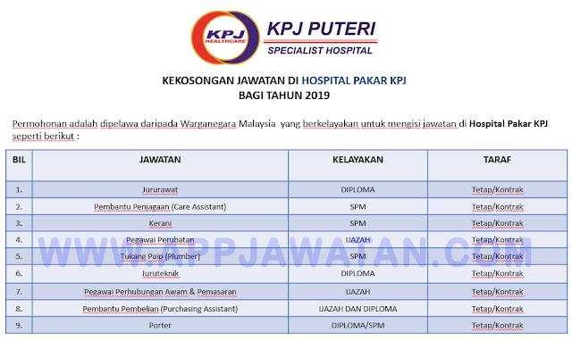 Temuduga Terbuka di Hospital Pakar KPJ