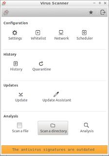 CLAMAV anti virus program on Lubuntu