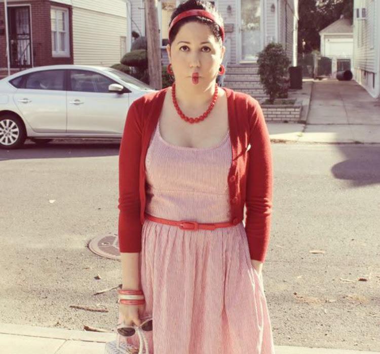 A Vintage Nerd, 1960s Retro Fashion, Eshakti Red Dress, 1960s Vintage Hairstyles