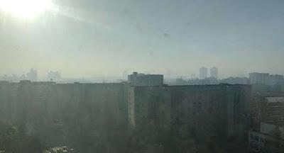 Над Киевом висит плотный смог из-за пожаров