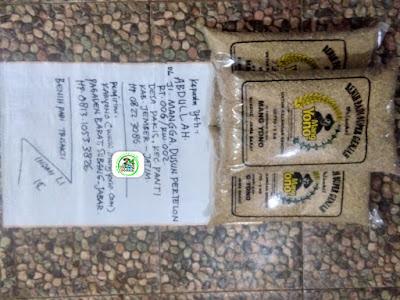 Benih padi yang dibeli ABDULLAH Jember, Jatim. (Sebelum packing karung ).