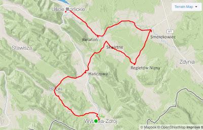 Mapka trasy wycieczki