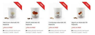 hawlik medicinske gljive reishi hericium pro100healthy samo na pro100healthy u Srbiji