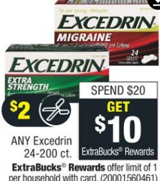 Excedrin Extra Strength 24 ct.